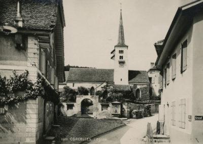 Rue de la Cure, carte postale, 1910