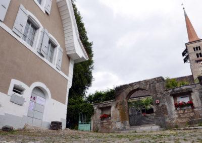 KVO et temple de Corcelles, 2020 (© Dallais)