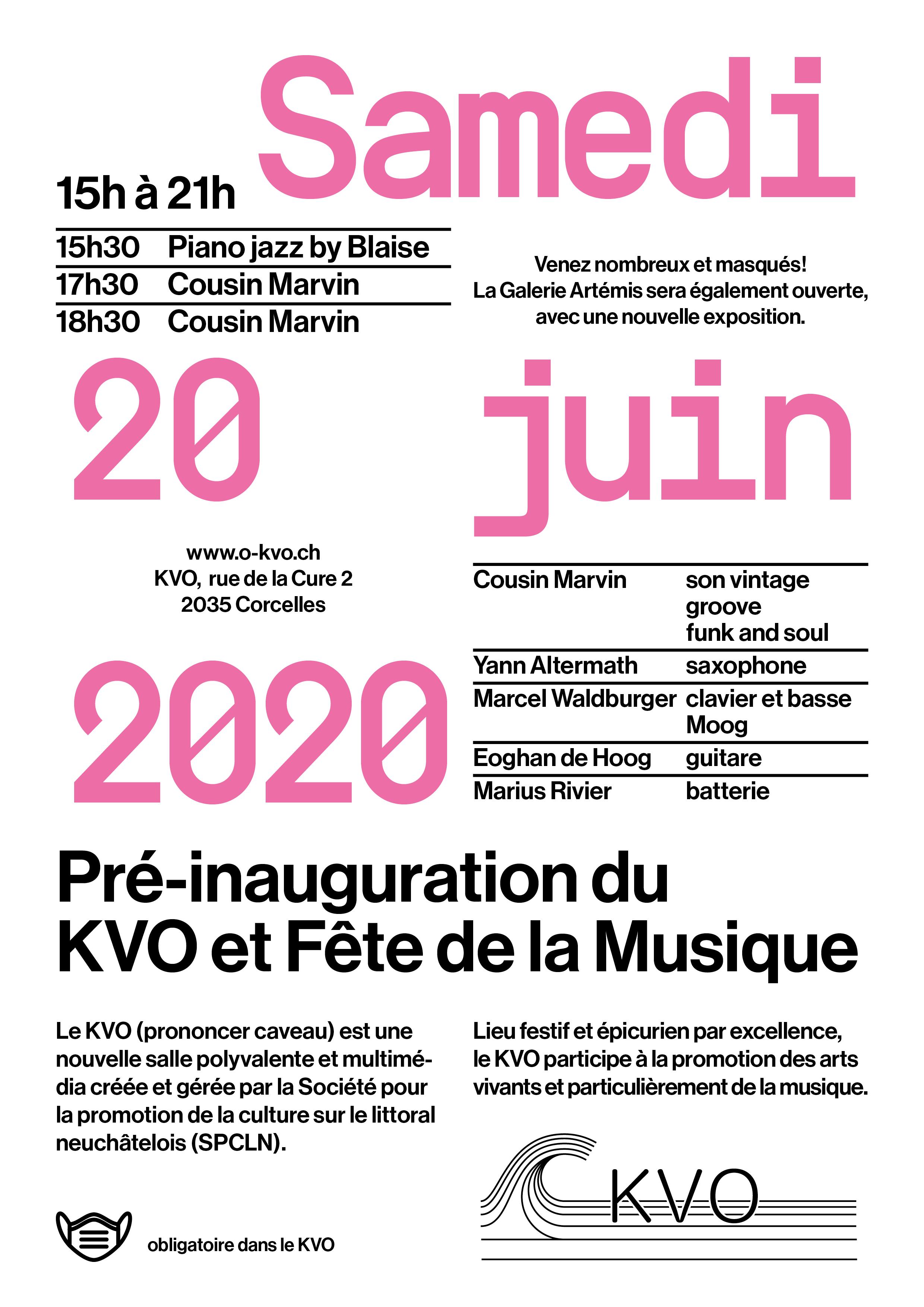 Pré-inauguration : Samedi 20 juin