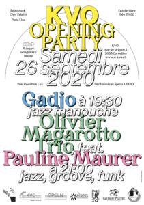 KVO OPENING PARTY - Inauguration du KVO le 26 septembre